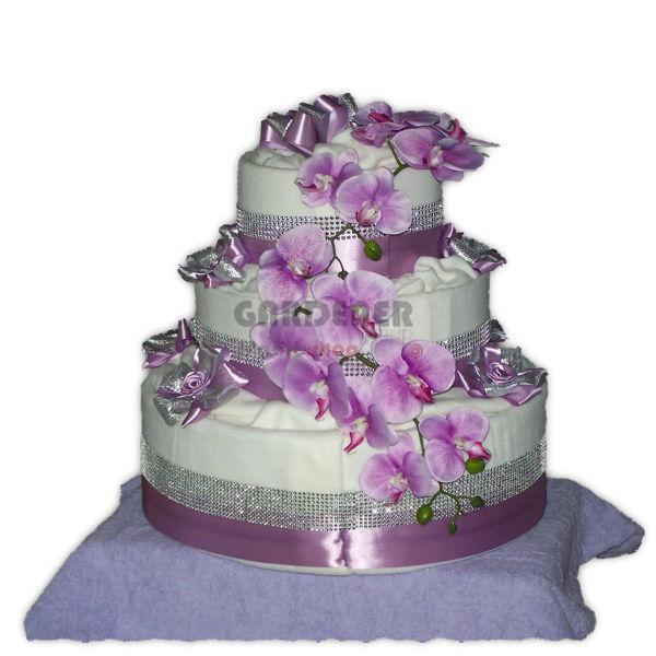 Svatební dort fialový z deky