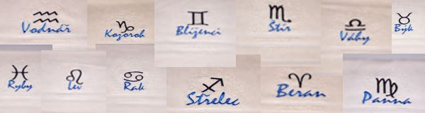 Vyšívané znamení zvěrokruhu na ručník a osušky