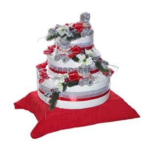 Vánoční textilní dort Míša